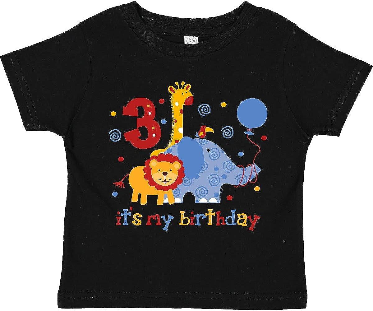 inktastic Safari 3rd Birthday Toddler T-Shirt
