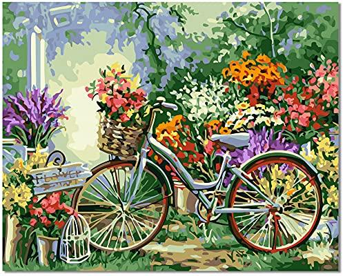 Bougimal Pintar por Numeros Adultos, DIY Pintura por números con Pinceles y Pinturas Decoraciones para el Hogar sin Marco de 40 X 50 cm