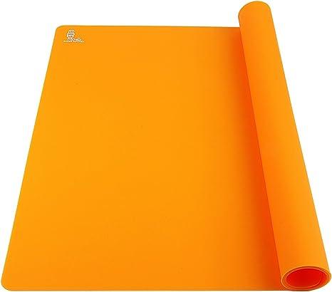 Super Kitchen Food Grade Silicone Baking Sheet Extra Large Baking Mat 23 4 Cm Blue Orange Amazon De Home Kitchen