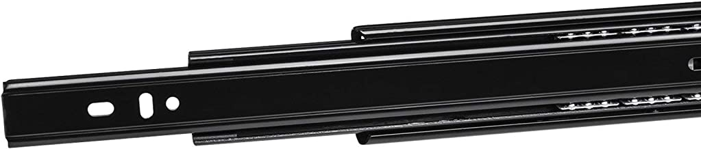 2 Paar (4 stuk) Volledig uitschuifbaar KV3-45-H45-L300-NF Lengte 300 mm Draagkracht 45 kg Zwart van