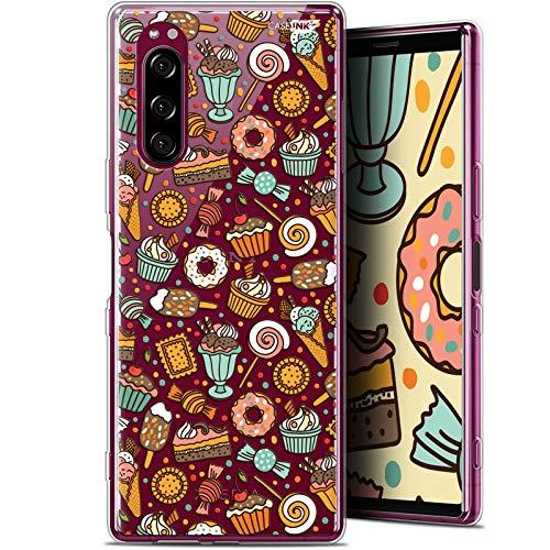 Caseink beschermhoes voor Sony Xperia 5 (6.1) [Gel-HD-druk, in Frankrijk bedrukt, Donut-design, zacht, ultradun, Sony Xperia 5, Snoepjes