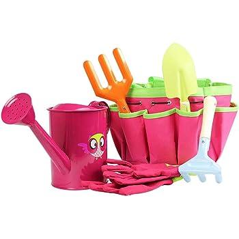 Azul JOYKK Little Gardener Tool Set with Bag Kids Ni/ños Jardiner/ía Ni/ños Chicas Regalo Juguetes