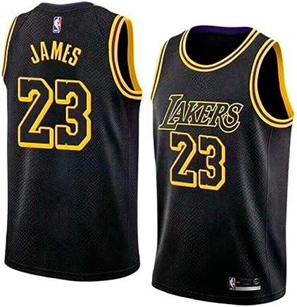 0d01309bb1745 BeKing Maillot de Basketball Homme Lebron James #23 - NBA Lakers, Nouveau  Tissu brodé