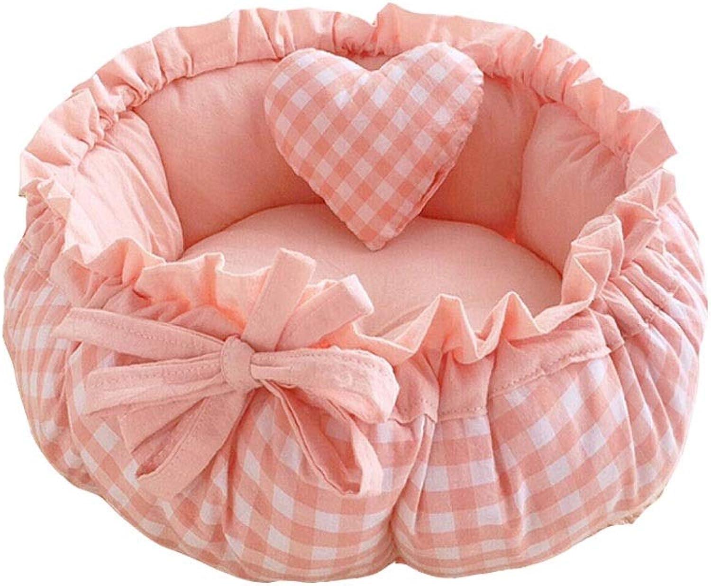Evav Pet bed,Cute Bow Pet Nest (color   Pink, Size   70  65cm)
