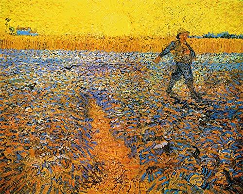 1art1 Vincent Van Gogh Poster Reproduction - Le Semeur Au Soleil Couchant D'Après Millet, 1888 (50 x 40 cm)