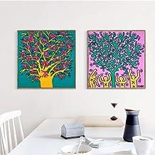 Quadro Haring The Tree of Life L/'Albero della Vita Stampa su tela Canvas