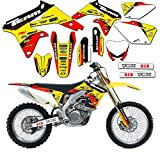 Team Racing Graphics kit compatible with Suzuki 2008-2017 RMZ 450, EVOLV