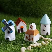 Decorative Decorative - 4pcs Set Mini Resin Church Castle Windmill Shed Cabin House Fairy Garden Miniature Craft Micro - Figurines Cottage Castle Zen Garden Fairy Resin With Garden House Ornam