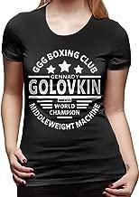 CarolJenkins Gennady Golovkin Boxing Club Mujeres Camiseta de Manga Corta Camisetas Sport Summer