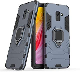 FanTing Case for Samsung Galaxy A8 Plus 2018, Rugged and shockproof,with mobile phone holder, Cover for Samsung Galaxy A8 ...