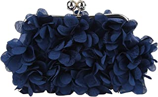 Floral Clutch Purses For Women Satin Evening Bag