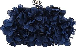 Floral Clutch Purses For Women Satin Evening Bag