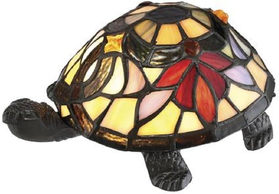 Award-winning store Tiffany Style Turtle Shaped Arlington Mall Table Multi-Colored Fi Bronze Lamp