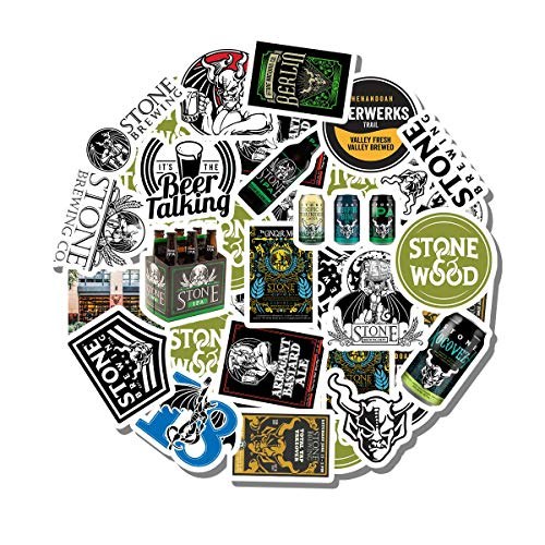 20 PCS Stickers Pack Stone Aesthetic Brewery Vinyl Colorful Waterproof for Water Bottle Laptop Scrapbooking Luggage Guitar Skateboard