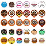 Custom Variety Pack Coffee, Tea, and Hot Chocolate Winter Sampler - Single Serve Pods for Keurig K-Cup Machines, 30 Assorted Flavors Party Mix
