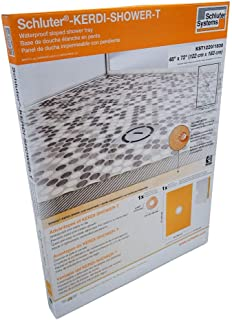 Schluter Kerdi 48-Inch x 72-Inch Shower Tray with Center Drain Placement