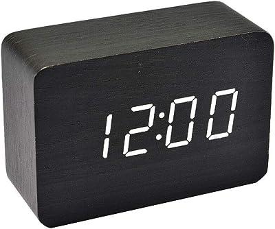 HSDDA Reloj de Control de Voz de Doble Uso Reloj electrónico LED Mute Luminoso Reloj de