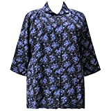 A Personal Touch Women's Plus Size 3/4 Sleeve Button-Front Tunic - Purple Breck 2X