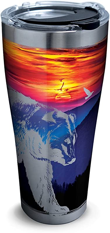 Tervis 1294091 Tennessee Smoky Mountains Tumbler With Clear And Black Hammer Lid 30 Oz Stainless Steel Silver