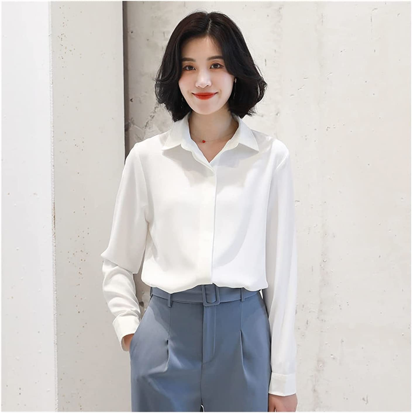 DAGCOT Our shop OFFers the best service Long Sleeve Shirt Womens Blouse C Up Button Vintage Animer and price revision