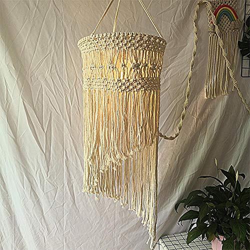 BDWS Dreamcatcher Boheemse INS Handgebreid Katoen Touw Lampenkap Hangende Decor Decoratie Voor Woonkamer Slaapkamer Bruiloft