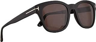 FT0676F Eugenio Sunglasses Shiny Black w/Brown 53mm Lens 01E FT676F TF 676F TF676-F