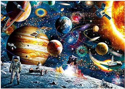 Space Puzzle 1000 Piece Jigsaw Puzzle - Planetas en Space Jigsaw Puzzle para Niños Adultos