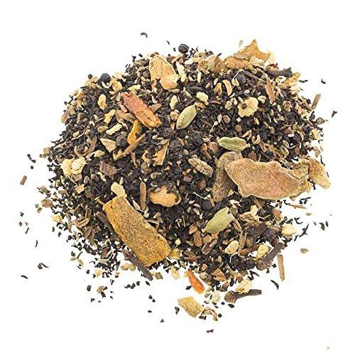 Aromas de Té - Té Chai Cúrcuma - Té Negro, Canela, Jengibre, Anís, Cardamomo, Chiles, Pimienta y Clavo - Propiedades Digestivas - Efecto Antioxidante - 100 gr