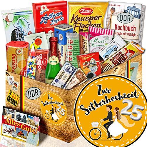 Zur Silberhochzeit - Ost Süßigkeiten - Geschenke zur Silberhochzeit Eltern