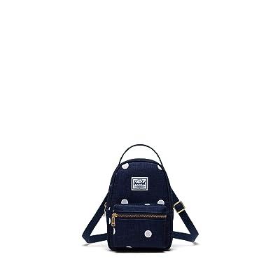 Herschel Supply Co. Nova Crossbody (Polka Dot Crosshatch Peacoat) Handbags