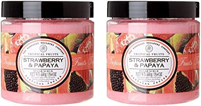 THE SOMERSET TOILETRY COMPANY LIMITED Tropical Fruits Strawberry & Papaya, Body Sugar Scrub, Duo Pack