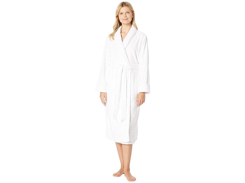 Nautica Long Cable Plush Robe (Polar Cable) Women