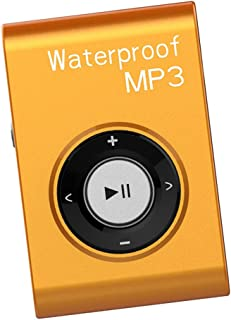 Dolity Portable Waterproof Mp3 Music Player Stereo Sound FM Radio with Clip Hanging Type - Orange