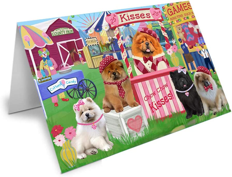 Carnival Kissing Booth Chow Chows Free shipping anywhere in the nation Card discount Dog Greeting 20 GCD69866