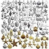 Ocean Sea Pendant Charms, 100 Pieces Mixed...