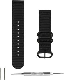 Benchmark Basics Nylon Watch Band – 2-Piece Zulu Strap + Spring Bar Tool   18mm, 20mm & 22mm   4 Colors