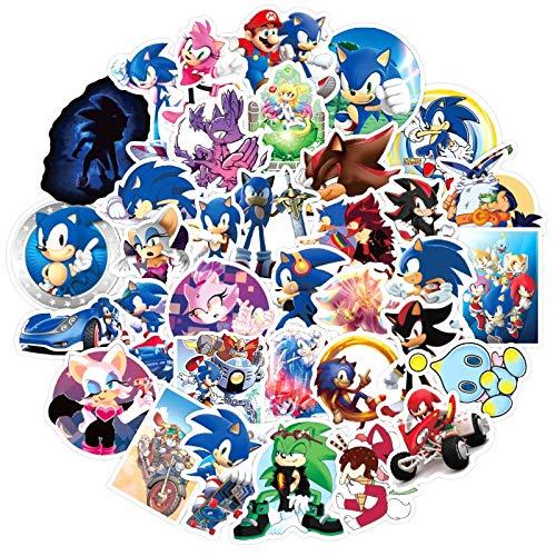 Skateboard Pegatinas 17 unids/pack Sonic the Hedgehog Anime pegatinas de película para muebles silla de escritorio de pared juguete coche maletero ordenador guitarra motocicleta