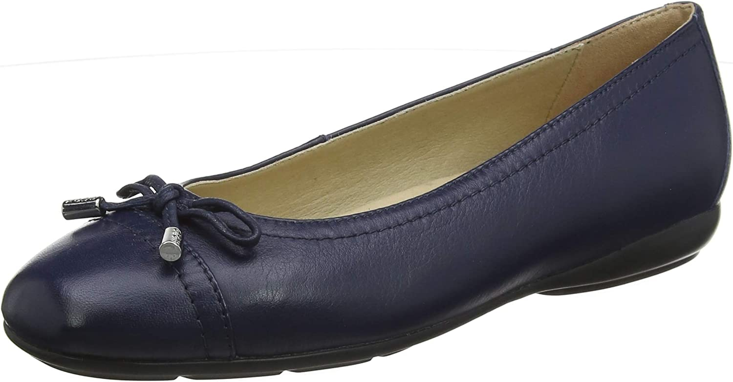 Geox Women's Annytah 9 Nappa Leather Ballet Flat with Arch Support and Cushioning