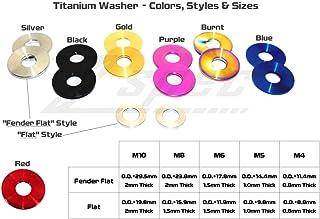 Screw Bolt Screw 12mm Outside Diameter M6 Titanium Flat Washer 5 Pieces