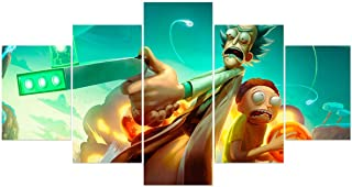 Rick and Morty Poster Prints on Canvas Unframed Science Fiction Wall Art Decoration