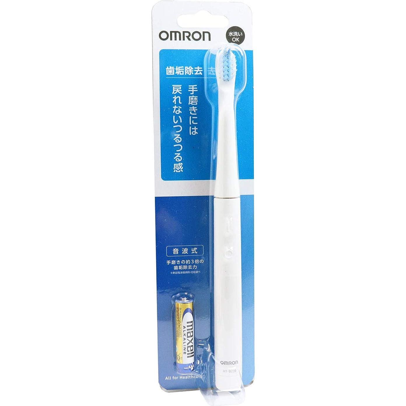 マトロン毛布平方オムロン 音波式電動歯ブラシ HT-B220-W ホワイト×10個セット
