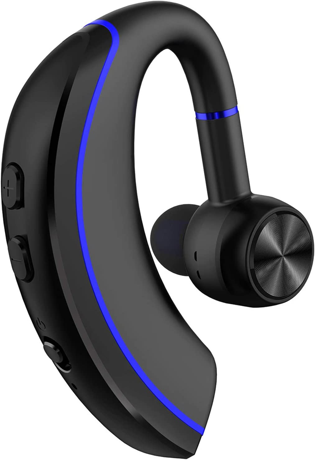 Yamipho Bluetooth Headset, Bluetooth 5.0 Handsfree Earpiece 12h Talking Time with Mic, Business Headphones Wireless Earphones Fits Left/Right in-Ear Driving Earbuds for iPhone Android Laptop (Blue)