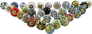 Assorted Ceramic Drawer Knob Multicolor Cupboard Pull Door Cabinet Hardware Knobs