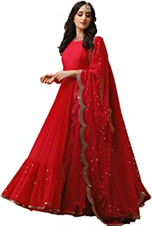 3bfffe2d18 Amazon.in: Georgette - Salwar Suits / Ethnic Wear: Clothing ...