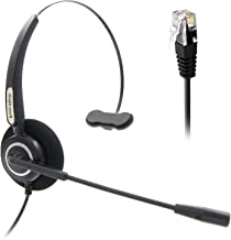 Office Monaural Headset with Microphone RJ9 Plug Only for Cisco IP Phones 7940 7960 7970 6900 Series and 8811,8841,8851,8861,8941,8945,8961,9951,9971 etc