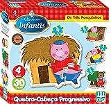 Quebra-Cabeça Progressivo Os Três Porquinhos, Nig Brinquedos