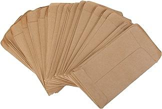 Chianrliu 100pcs Pochette Sac en Kraft Papier Vintage pour Semences