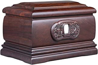 JCCOZ-URG Urn for Human Ashes, Adult Funeral Urn Forever Memory Box Memorial Woodcarving Clear Lines (Rosewood, 380 Cubic ...