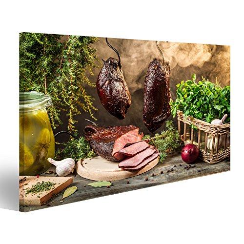 islandburner Bild Bilder auf Leinwand Ländliche Räucherschinken Zubereitung für das Rauchen...