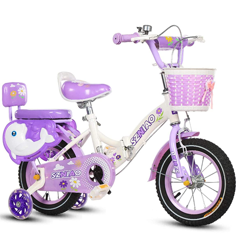 恵み分誘惑するトレーニングホイールと高炭素鋼の子供自転車折り自転車